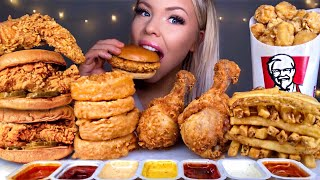 ASMR POPEYES VS KFC *MOST POPULAR FOOD* CHICKEN SANDWICH, FRIED CHICKEN, APPLE PIE, FRIES MUKBANG 먹방