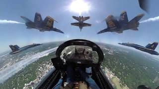 Spectacular In-flight Video From Navy Blue Angels Flying Over Baltimore, Washington DC And Atlanta