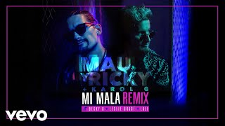 Mau Y Ricky, Karol G   Mi Mala (Remix) (Official Audio) Ft. Becky G, Leslie Grace, Lali