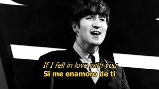 If I fell - The Beatles (LYRICS/LETRA) [Original]