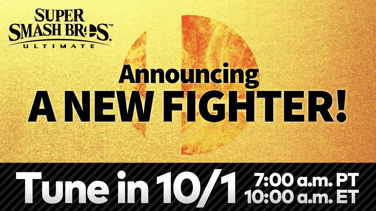 任天堂宣佈將於港台/新馬時間10月1日22點公佈《任天堂明星大亂鬥SP》新的參戰鬥士 Maxresdefault