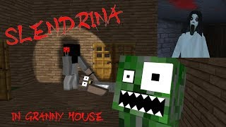 Monster School: SLENDRINA VISITS GRANNY HOUSE - Minecraft Animation