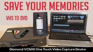 How to convert VHS into Digital with Diamond VC5OO Video Capture Software.