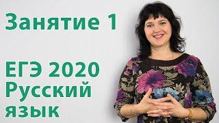 Подготовка к ЕГЭ 2018 по русскому языку. Занятие 1