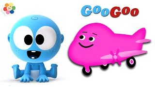 Learn Vehicles with Laughing Baby | Googoo with Airplanes & More | Learn Colors From BabyFirst TV