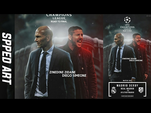 Real Madrid vs Atletico Madrid | Madrid Derby Poster Design| Photoshop | GraphicsD