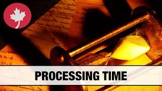 Processing times of Canadian immigration applications