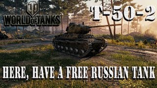World of Tanks Free Tier VI T-50-2 Prem Light Tank 1st Impressions