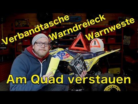 Verbandtasche und Warndreieck am Quad / Pflicht / ToxiQtime