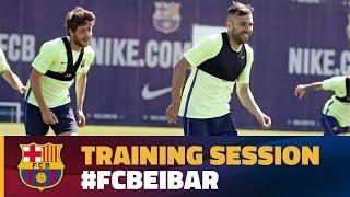 FC Barcelona: Last training session before the match against Eibar