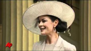 Zeta Jones Celebrates CBE Honor With Douglas