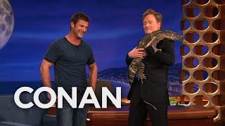 Animal Expert Dave Salmoni: Caracal & Monitor Lizard   CONAN on TBS