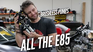 BRUSHLESS Pumps for the AWD 4 Rotor RX-7. E85 Fuel System Build time!