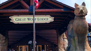 GREAT WOLF LODGE! Full Tour 4K Video - Indoor Water Park Family Vacation