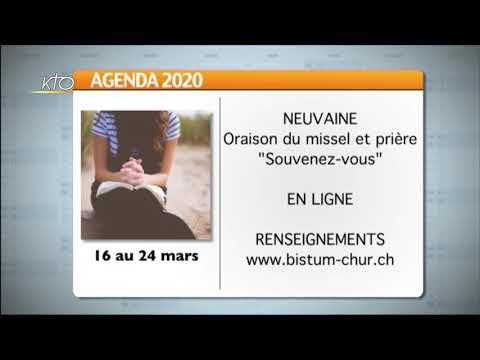 Agenda du lundi 16 mars 2020