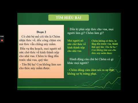 TẬP ĐỌC 4 - NHỮNG HẠT THÓC GIỐNG