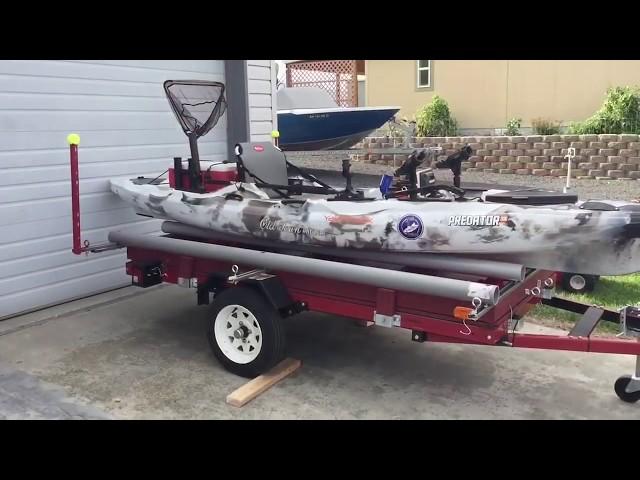 Harbor Freight Double Kayak Trailer Build | Use 1 or 2 Kayaks
