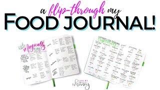 My Food Journal Flip-Through [Bullet Journal Cookbook, Recipe & Food Tracker]