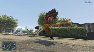 GTA 5 Goku Mod - Songoku xuất hiện trong GTA 5 chấp cả thế giới