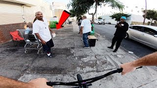 RIDING BMX IN LA COMPTON GANG ZONES 12 (CRIPS & BLOODS)
