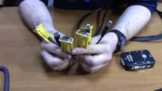 2-портовый KVM свич-переключатель для компьютеров USB + VGA Модель KVM21UA от компании ТехМагнит - видео