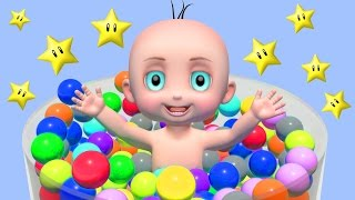 Learning Colors For Baby Kids Childrens - Teach Colors - Learn Colors with 3D Baby Balls Toys