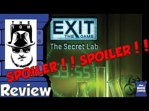 EXIT: The Game - The Secret Lab SPOILER Review - with Tom Vasel
