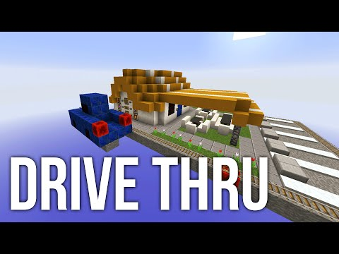 Drive Thru in Minecraft - Redstone Invention - Auto Fast Food Restaurant
