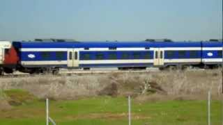 preview picture of video 'A train near Ben Gurion Airport in Israel'