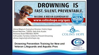 Drowning Prevention Training for New and Veteran Lifeguards and Aquatic Pros