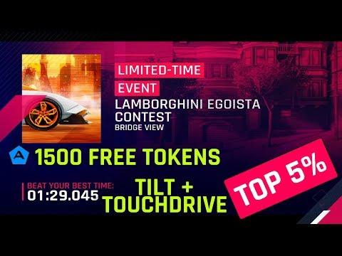 Fichas Gratuitas 1,5k - Lamborghini Egoista Guia de inclinação e toque do concurso