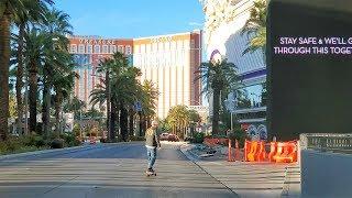 The Las Vegas Strip Virtually Empty
