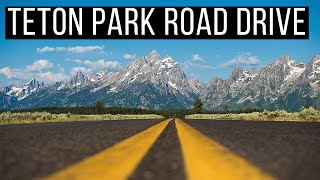 🛣️ Driving Teton Park Road | Grand Teton National Park Drive | Scenic Mountain Drive