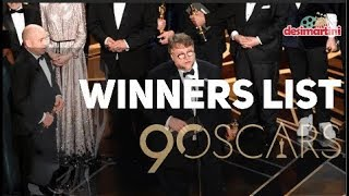 Oscars 2018 : Complete Winners List | Category wise | 90th Academy Awards | Jimmy Kimmel