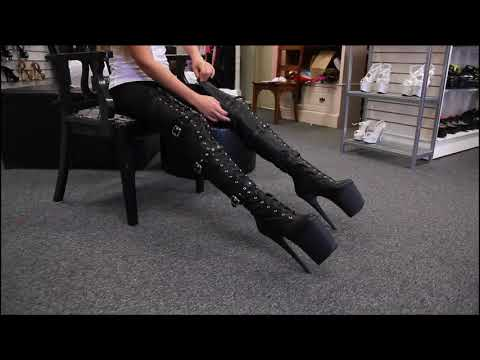 Review Pleaser Flamingo 3028 Matte Black Thigh High Boots