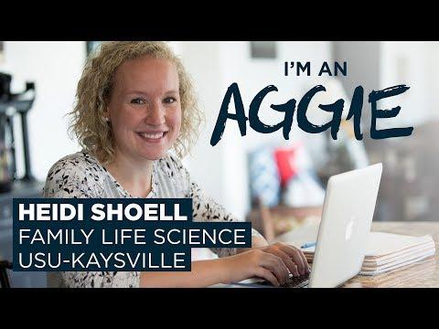 Heidi Shoell, Family Life Science major at USU-Kaysville