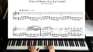 City Of Stars - La La Land - Piano Tutorial Plus Sheet