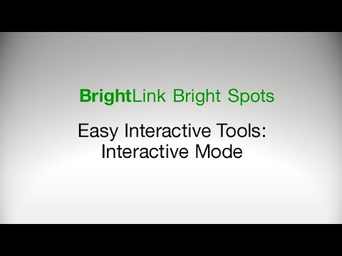 How to use Easy Interactive Tools in Interactive Mode