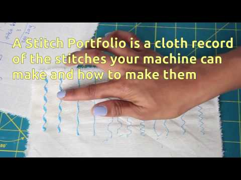 I'll teach you how to create a stitch portfolio, an easy exercise to get to know and understand the settings of your sewing machine.