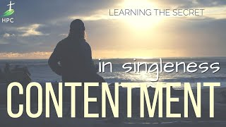 Finding Contentment – in singleness