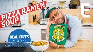 How to Make Pizza Ramen Soup like the Teenage Mutant Ninja Turtles – Real Chefs Cook Dumb Recipes thumbnail