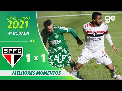 Vídeo / São Paulo 1 x 1 Chapecoense - Brasileirão 2021