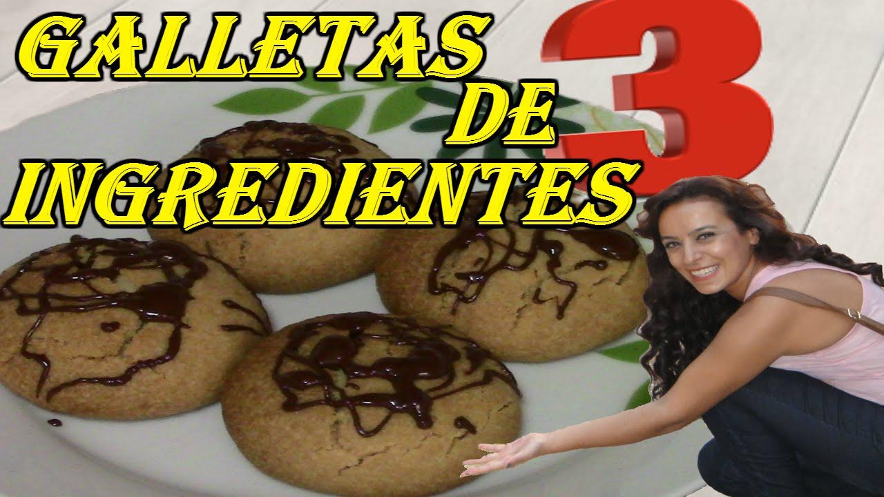 GALLETAS DE 3 INGREDIENTES | recetas de cocina faciles rapidas y economicas de hacer - comidas ricas