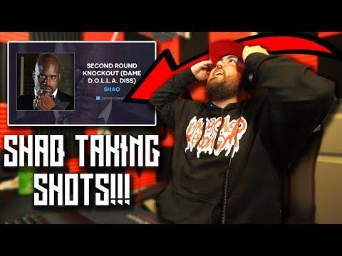 RAPPER REACTS to Shaq - Second Round Knockout (Damian Lillard Diss)