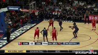 The USA vs China - Full Game Highlights   July 24, 2016   Exhibition   2016 USA Basketball Showcase