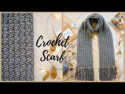 Crochet Scarf| Hướng dẫn móc KHĂN CHOÀNG cho nam siêu đơn giản| Vyvascrochet