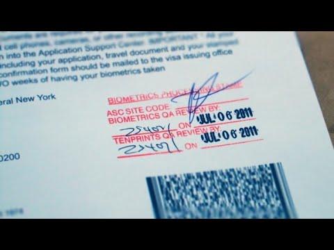 Lăn tay và chụp hình làm thẻ xanh-Biometric for green card through k1 visa