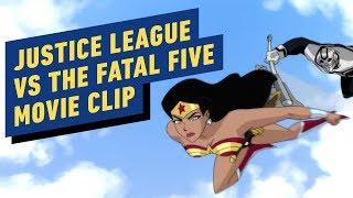 "Justice League vs. The Fatal Five - ""Battle In the Sky"" Clip"