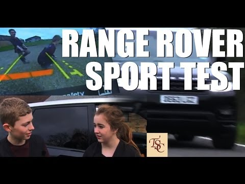 Kids test the new Range Rover Sport (uh-oh)