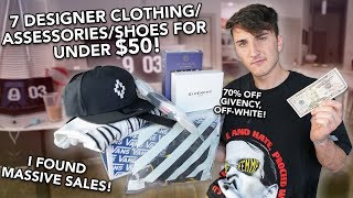 7 DESIGNER CLOTHING PIECES FOR UNDER $50! (Off-White, Givenchy & More!)